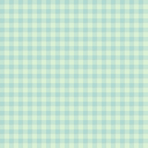Spring Flowers Quilt pale mint gingham