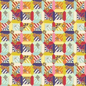 Floral Abstract Micro Quilt