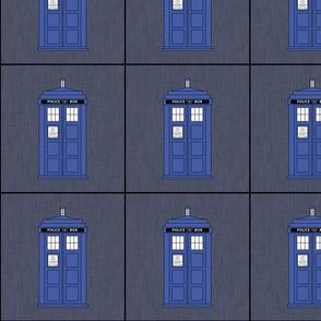 Blue Boxes on slate gray
