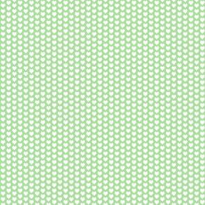 ditsy heart green