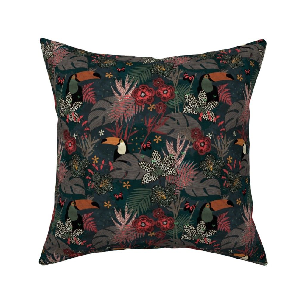 Catalan Throw Pillow featuring Jungle Fever by kimsa