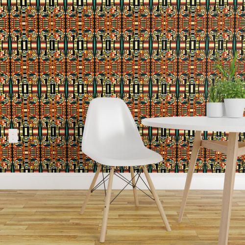 Wallpaper Kitsch Kitchen Stripes