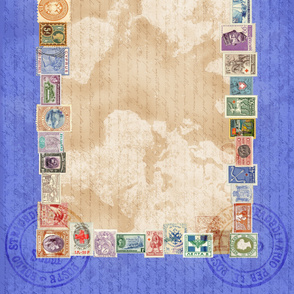 Stamps Tablecloth