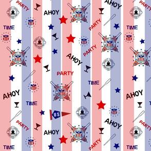 AHOY MATEY R W B Stripe