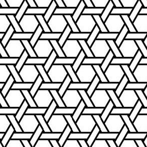 02707690 : hexagonal straight weave