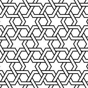 02708070 : hex-tri star weave