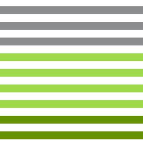 Stripes gradient - Green