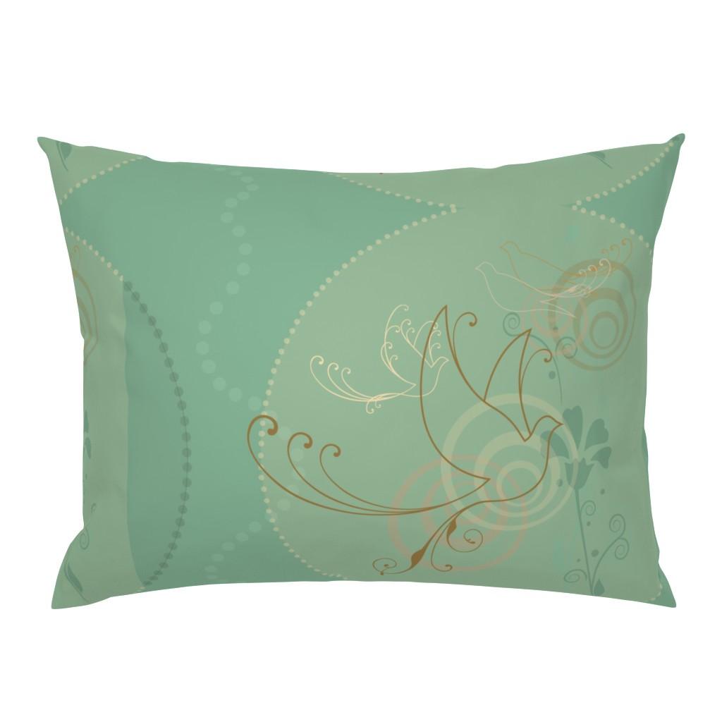 Campine Pillow Sham featuring Swirl Birds by cherie