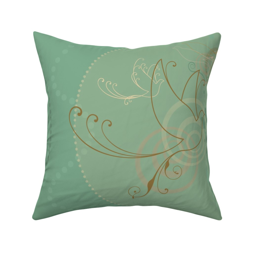 Catalan Throw Pillow featuring Swirl Birds by cherie