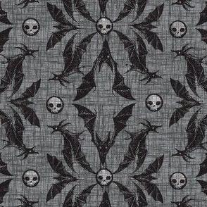 Bat Damask - gray