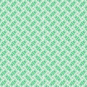 Floral ikat scribbles -- in summery greens