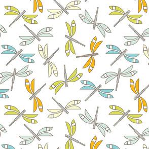 Dragonfly, white lg