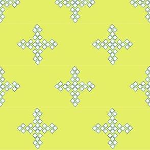 Diamond Cross in chartreuse