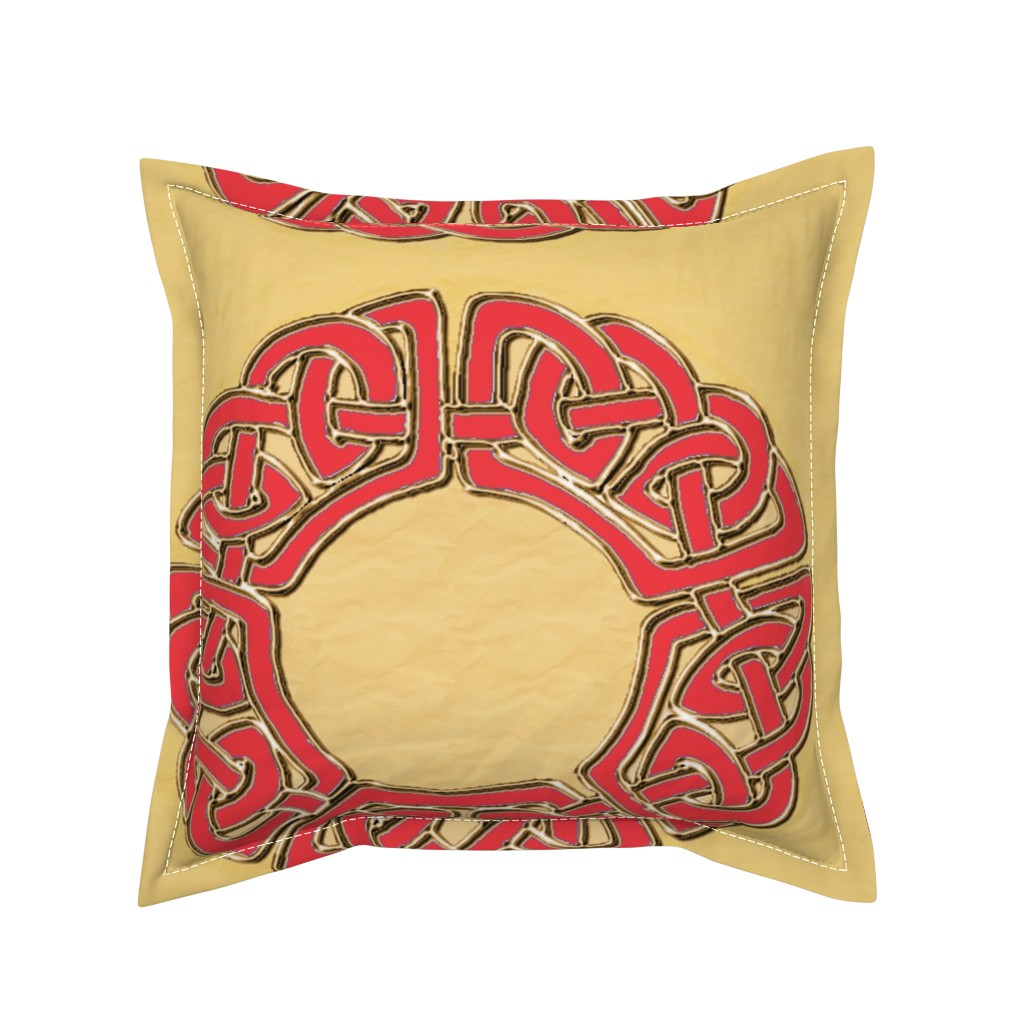 Serama Throw Pillow featuring celtround22gldredcloislg3 by ingridthecrafty