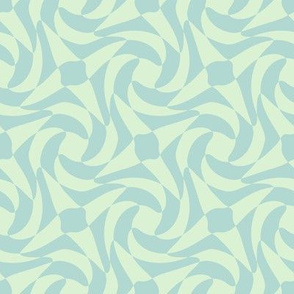 geometric rose in Spring Quilt mint