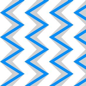 nested chevron modern gray blue