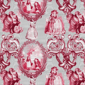 Those Animals Think They're People Toile ~ Moire ~ Silver Leaf