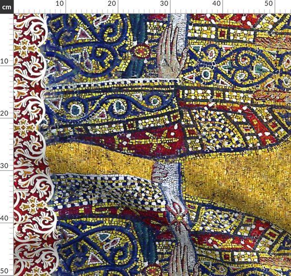 Biblia, frontera, bizantino, corona, mosaico, Smo - Spoonflower