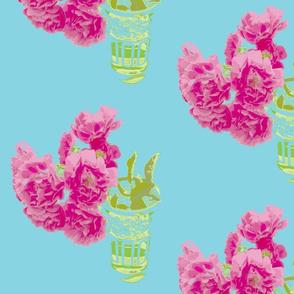 Moroccan tea glass tea roses turquoise-ed
