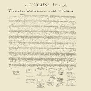 "15x18"" (6/yard) Declaration of Independence"