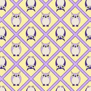 Nursery Owls - Blue