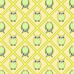 Nursery Owls - Green
