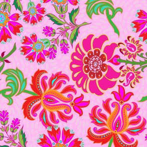 Pink Floral Paisley