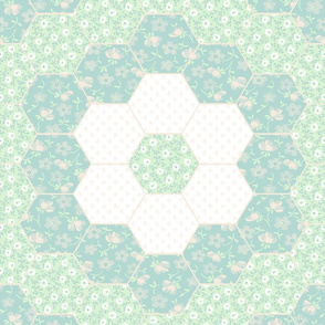 Floral Cheater Quilt