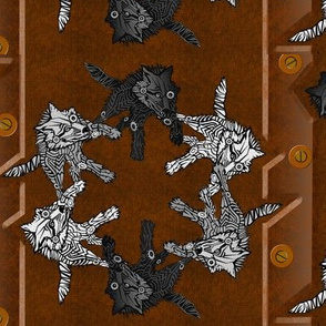 steampunk wolf pack panel stripes