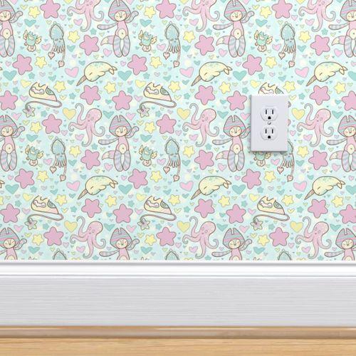 Wallpaper Fairy Kei Land Small Print