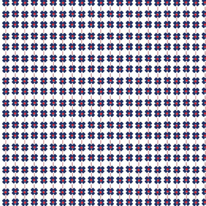 1930s Flower Stripe Microprint