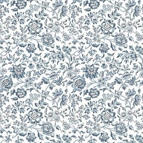 William Morris Ditsy ~ Blue and White