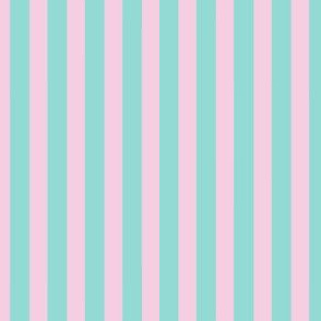 Fairy Stripe - Pink & Teal