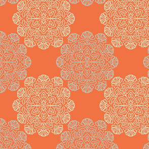 Floral Medallion - orange