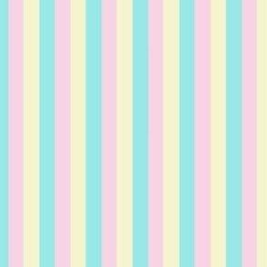 Fairy Stripe - Teal Pink Lemon