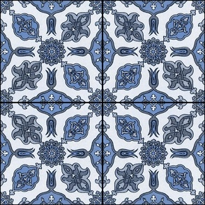 Racinet Moroccan Tile ~ Blue and White