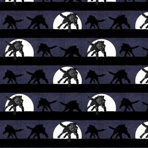 steampunk wolf running stripe midnight thunder