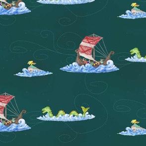 A Viking Fantasy at Sea