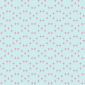 Cross in pale pink and blue