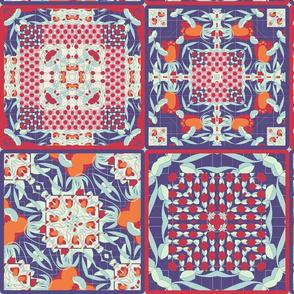 deco flower cheater quilt