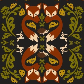 Ornate Fox Black