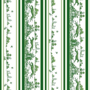 Green Toile Greyhounds