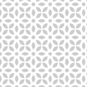 Grey On White Jaali
