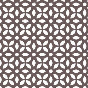 White On Grey-brown Jaali