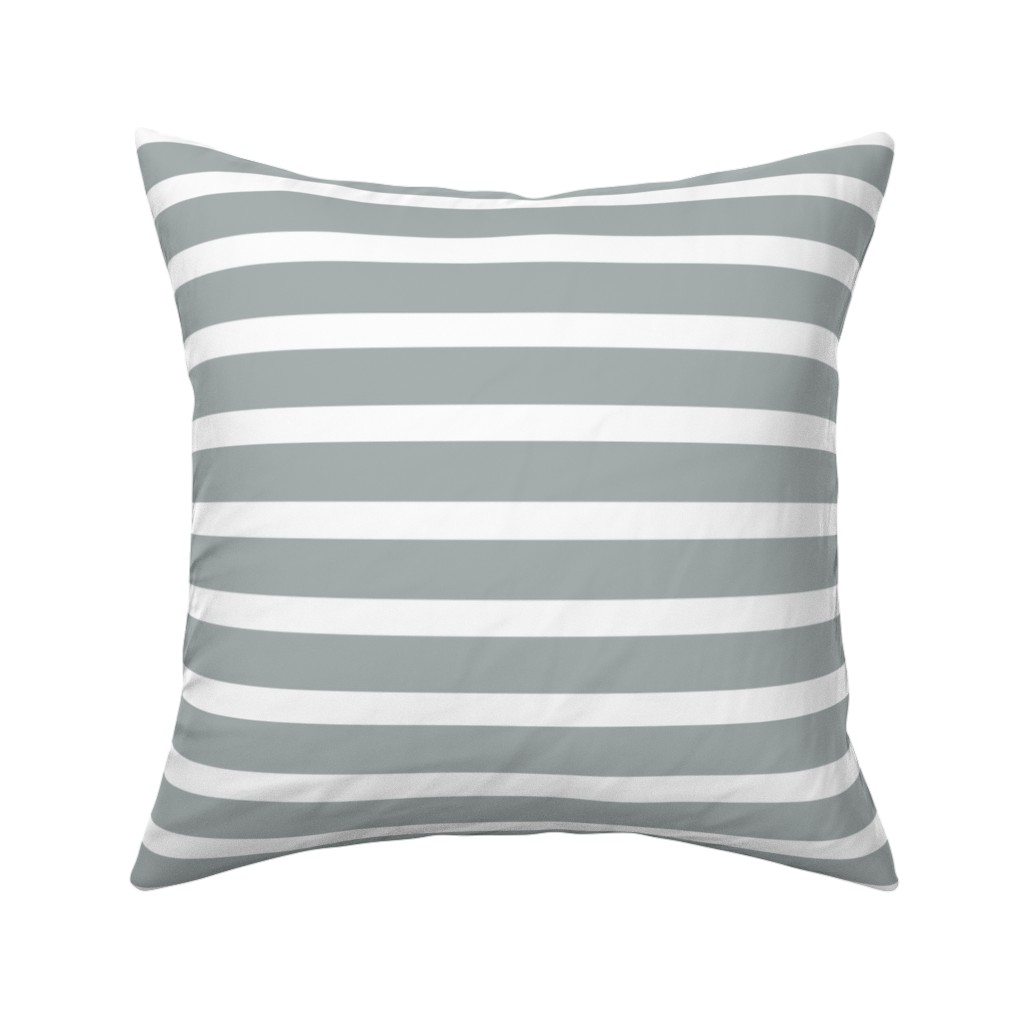 Catalan Throw Pillow featuring Stripes in Paloma Grey by daniellereneefalk