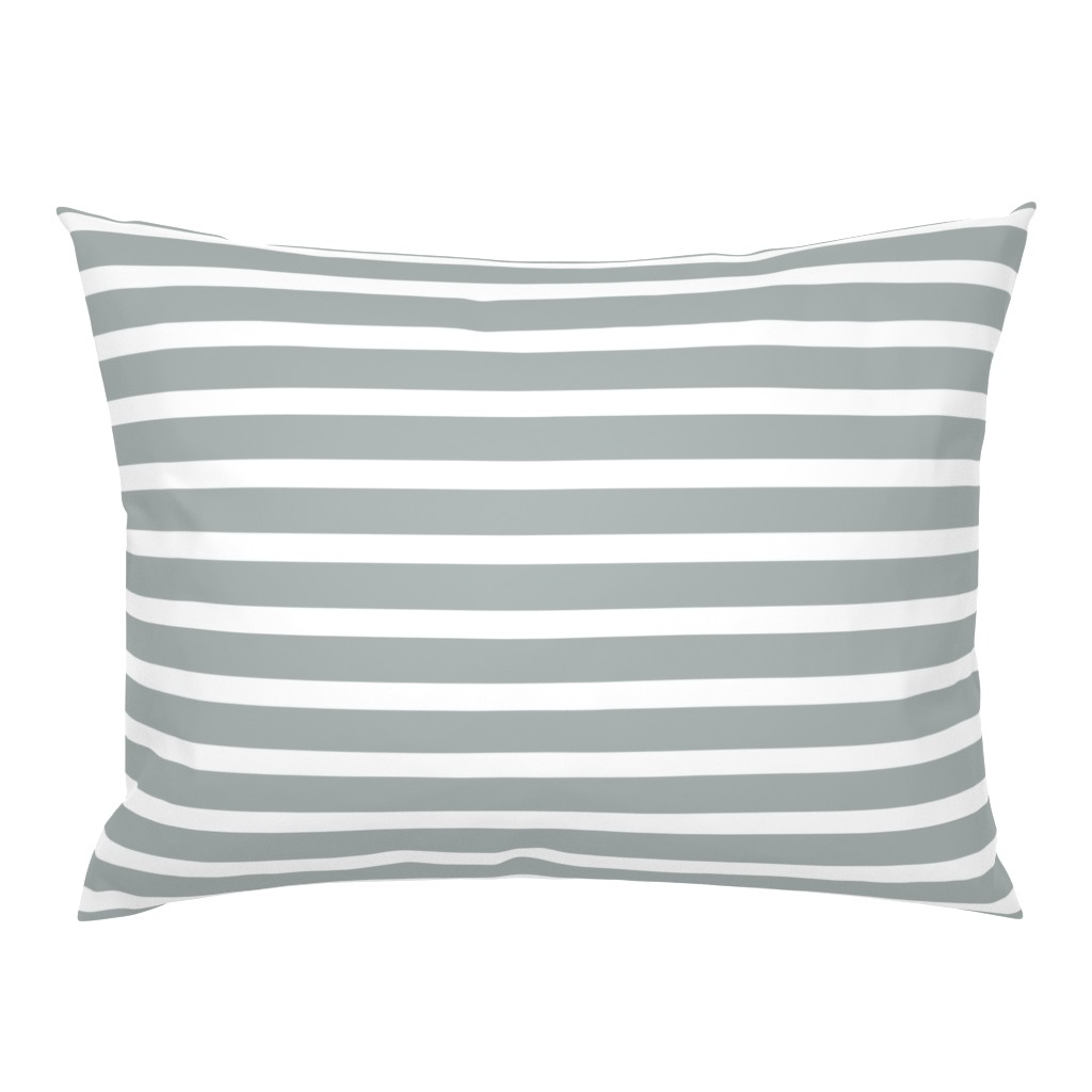 Campine Pillow Sham featuring Stripes in Paloma Grey by daniellereneefalk