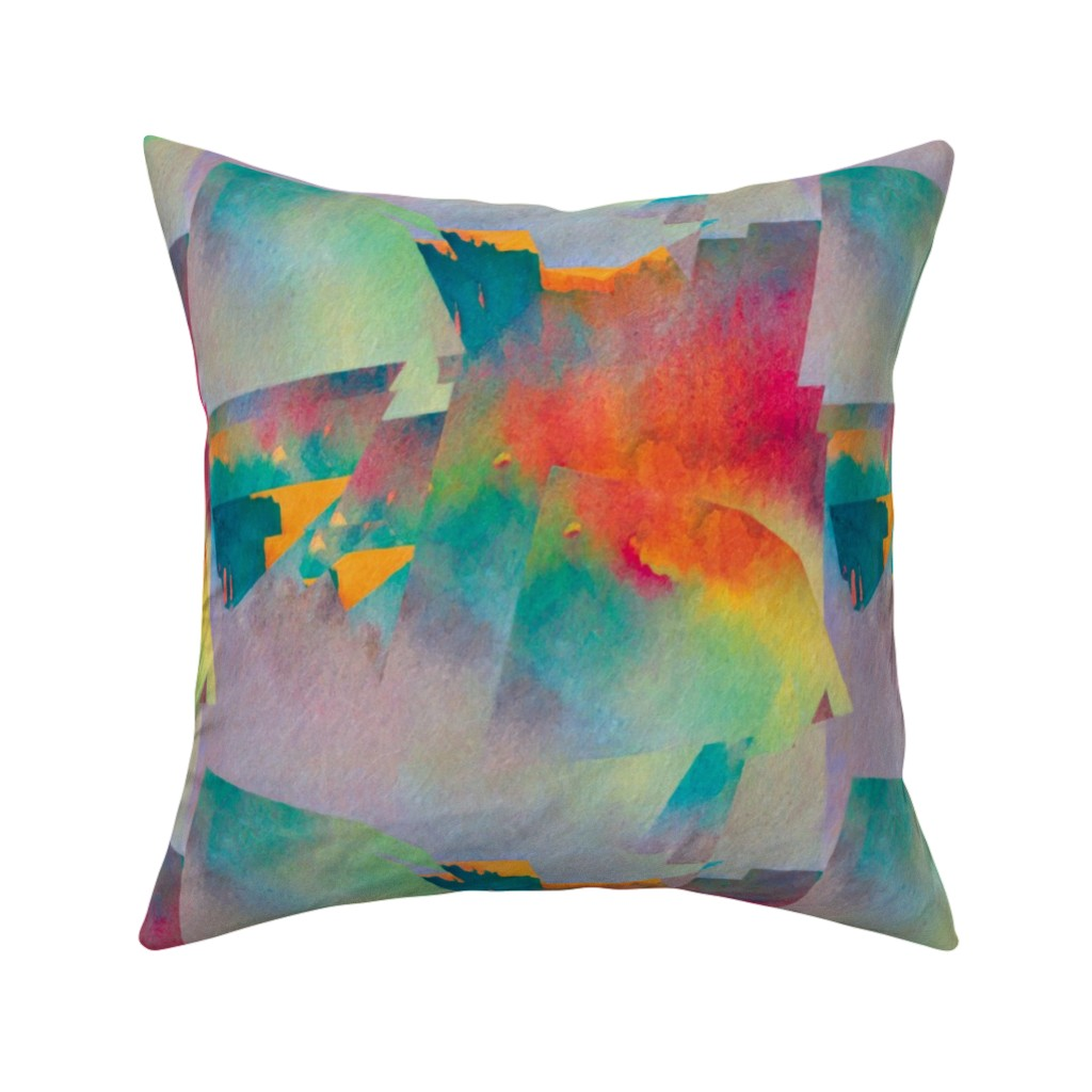 Catalan Throw Pillow featuring Abstract Scenery 1 by animotaxis
