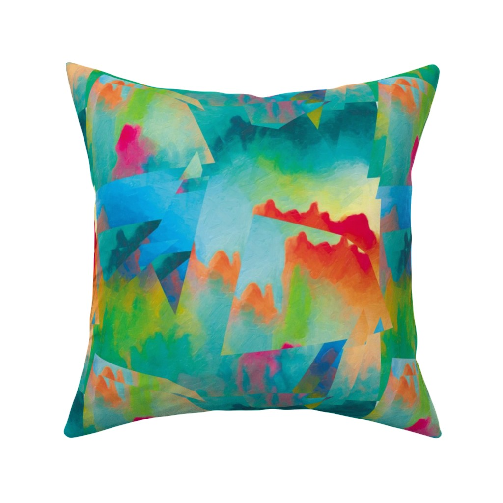 Catalan Throw Pillow featuring Abstract Scenery 2 by animotaxis