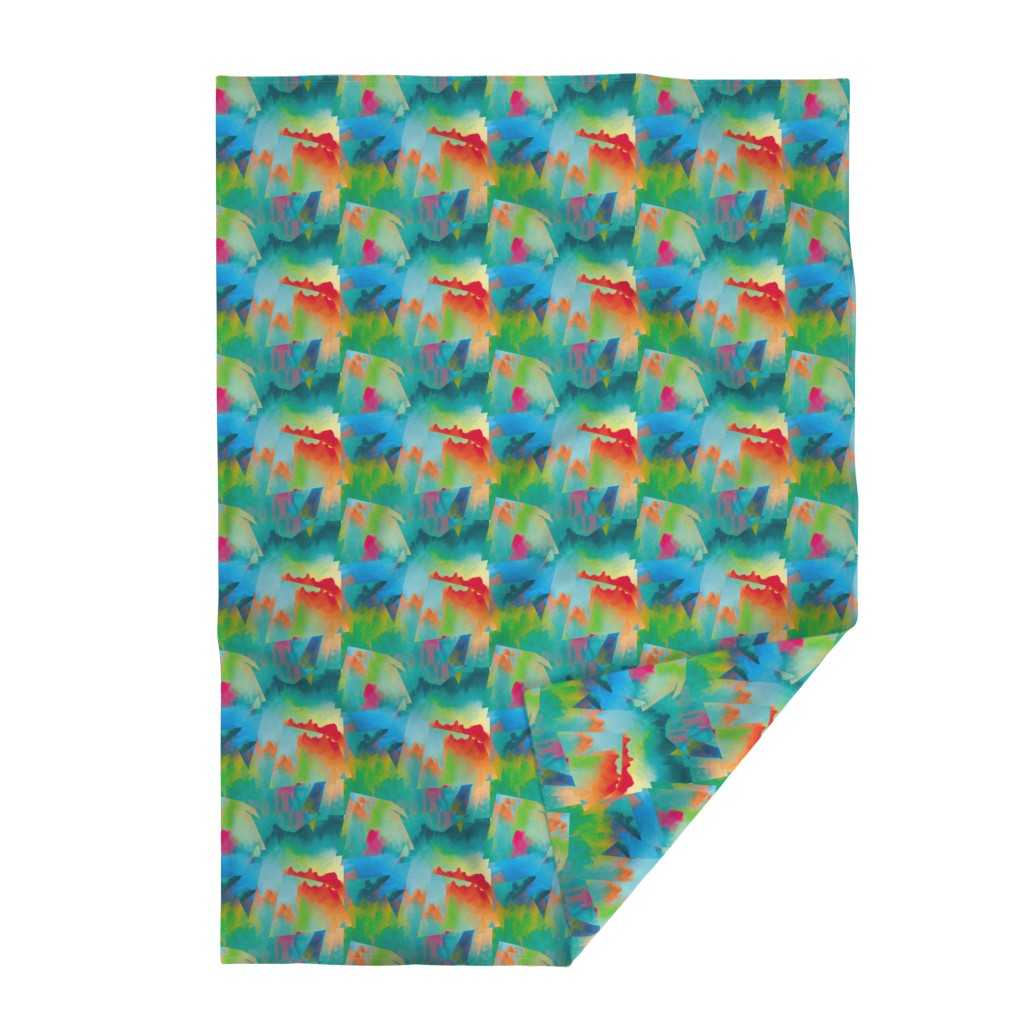 Lakenvelder Throw Blanket featuring Abstract Scenery 2 by animotaxis