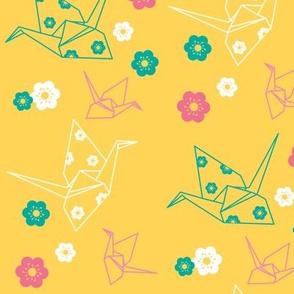 Origami Cranes - Gold